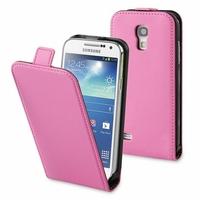 Samsung Galaxy S4 mini i9190/ S4 mini plus I9195I/ i9192/ i9195/ i9197: Etui Rabattable Verticale en cuir PU - ROSE