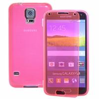 Samsung Galaxy S5 V G900F G900IKSMATW LTE G901F/ Duos / S5 Plus/ S5 Neo SM-G903F/ S5 LTE-A G906S: Coque Silicone gel Livre rabat - ROSE