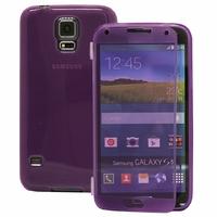 Samsung Galaxy S5 V G900F G900IKSMATW LTE G901F/ Duos / S5 Plus/ S5 Neo SM-G903F/ S5 LTE-A G906S: Coque Silicone gel Livre rabat - VIOLET