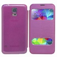 Samsung Galaxy S5 V G900F G900IKSMATW LTE G901F/ Duos / S5 Plus/ S5 Neo SM-G903F/ S5 LTE-A G906S: Etui flip coque S-View support  - VIOLET
