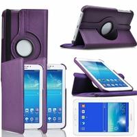 Samsung Galaxy Tab 3 Lite 7.0 T110/ Tab 3 Lite 7.0 VE Wi-Fi T113/ Tab 3 V T116NU/ Tab 3 Lite 7.0 3G T111: Etui Cuir PU Support Rotatif 360° - VIOLET