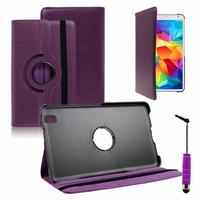 Samsung Galaxy Tab S 8.4 SM-T700/ LTE 4G SM-T705: Etui Cuir PU Support Rotatif 360° + mini Stylet - VIOLET