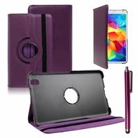 Samsung Galaxy Tab S 8.4 SM-T700/ LTE 4G SM-T705: Etui Cuir PU Support Rotatif 360° + Stylet - VIOLET