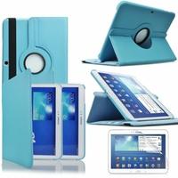 Samsung Galaxy Tab 3 10.1 P5200/ P5210/ P5220/SM-T510: Etui Cuir PU Support Rotatif 360° - BLEU