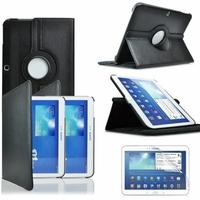 Samsung Galaxy Tab 3 10.1 P5200/ P5210/ P5220/SM-T510: Etui Cuir PU Support Rotatif 360° - NOIR