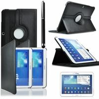 Samsung Galaxy Tab 3 10.1 P5200/ P5210/ P5220/SM-T510: Etui Cuir PU Support Rotatif 360° + Stylet - NOIR