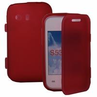 Samsung Galaxy Y Neo GT-S5360 S5369i: Coque Silicone gel Livre rabat - ROUGE