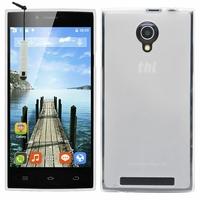 THL T6C 3G SmartPhone 5.0'': Coque silicone Gel + mini Stylet - TRANSPARENT