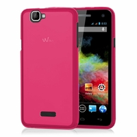 Wiko Rainbow: Coque silicone Gel - ROSE