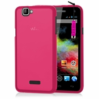 Wiko Rainbow: Coque silicone Gel + mini Stylet - ROSE