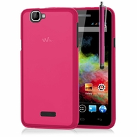 Wiko Rainbow: Coque silicone Gel + Stylet - ROSE