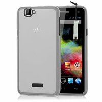 Wiko Rainbow 4G: Coque silicone Gel + mini Stylet - TRANSPARENT