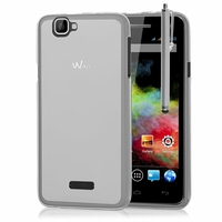 Wiko Rainbow 4G: Coque silicone Gel + Stylet - TRANSPARENT