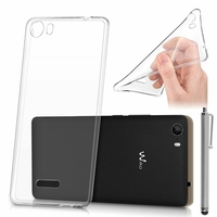 Wiko Fever SE: Coque TPU Silicone Gel Souple Ultra Fine + Stylet - TRANSPARENT