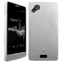 Sony Xperia Arc X12 Lt15i LT15a/ Arc S LT18i LT18a: Coque silicone Gel motif S au dos - TRANSPARENT