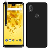 """Wiko View2 6.0"""" (non compatible Wiko View 2 Pro 6.0""""): Coque TPU Silicone Gel Souple Ultra Fine + Stylet - NOIR"""