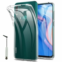"""Huawei P Smart Z (2019) 6.59"""" (non compatible Huawei P smart 2017 5.65""""/ P Smart Plus 2019 6.21""""/ P Smart (2019) 6.21""""): Coque Silicone gel UltraSlim et Ajustement parfait + mini Stylet - TRANSPARENT"""
