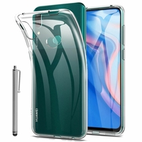 """Huawei P Smart Z (2019) 6.59"""" (non compatible Huawei P smart 2017 5.65""""/ P Smart Plus 2019 6.21""""/ P Smart (2019) 6.21""""): Coque Silicone gel UltraSlim et Ajustement parfait + Stylet - TRANSPARENT"""