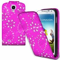 Samsung Galaxy S4 i9500/ i9505/ Value Edition I9515: Etui Housse Coque ultra fin avec strass - ROSE