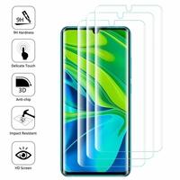 """Xiaomi Mi Note 10/ Note 10 Pro 6.47"""" M1910F4G [Les Dimensions EXACTES du telephone: 157.8 x 74.2 x 9.7 mm]: Lot/ Pack de 3 Films en Verre Trempé Bord Incurvé Resistant"""
