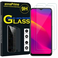 "Oppo A11 6.5"" PCHM10, PCHT10 [Les Dimensions EXACTES du telephone: 163.6 x 75.6 x 9.1 mm]: Lot / Pack de 2 Films de protection d'écran Verre Trempé"