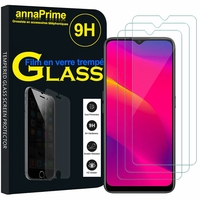 "Oppo A11 6.5"" PCHM10, PCHT10 [Les Dimensions EXACTES du telephone: 163.6 x 75.6 x 9.1 mm]: Lot / Pack de 3 Films de protection d'écran Verre Trempé"