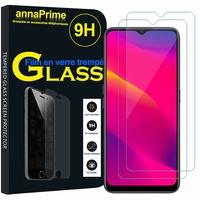 """Oppo A5 (2020) 6.5"""" CPH1931 CPH1959 CPH1933 CPH1935 [Les Dimensions EXACTES du telephone: 163.6 x 75.4 x 9.1 mm]: Lot / Pack de 2 Films de protection d'écran Verre Trempé"""