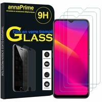 """Oppo A5 (2020) 6.5"""" CPH1931 CPH1959 CPH1933 CPH1935 [Les Dimensions EXACTES du telephone: 163.6 x 75.4 x 9.1 mm]: Lot / Pack de 3 Films de protection d'écran Verre Trempé"""