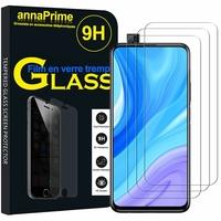 """Huawei Y9s (2019) 6.59"""" STK-L21 STK-L22 STK-LX3 (non compatible Huawei Y9 (2019) 6.5""""): Lot / Pack de 3 Films de protection d'écran Verre Trempé"""