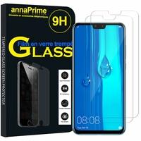"""Huawei Y9 (2019)/ Enjoy 9 Plus 6.5"""" (non compatible Huawei Y9 Prime (2019) 6.59""""): Lot / Pack de 2 Films de protection d'écran Verre Trempé"""