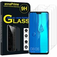"""Huawei Y9 (2019)/ Enjoy 9 Plus 6.5"""" (non compatible Huawei Y9 Prime (2019) 6.59""""): Lot / Pack de 3 Films de protection d'écran Verre Trempé"""