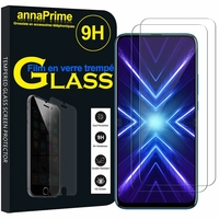 "Huawei Honor 9X/ 9X Pro/ 9X Premium 6.59"" (non compatible Honor 9/ 9 Premium 5.15""): Lot / Pack de 2 Films de protection d'écran Verre Trempé"