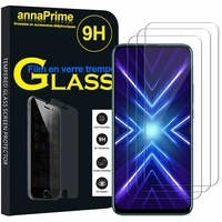 "Huawei Honor 9X/ 9X Pro/ 9X Premium 6.59"" (non compatible Honor 9/ 9 Premium 5.15""): Lot / Pack de 3 Films de protection d'écran Verre Trempé"