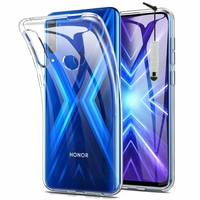 "Huawei Honor 9X/ 9X Pro/ 9X Premium 6.59"" (non compatible Honor 9/ 9 Premium 5.15""): Coque Silicone gel UltraSlim et Ajustement parfait + mini Stylet - TRANSPARENT"