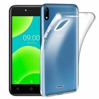"Wiko Sunny 4 5.0"" (non compatible Wiko Sunny 4 Plus 5.45""): Coque Silicone gel UltraSlim et Ajustement parfait - TRANSPARENT"