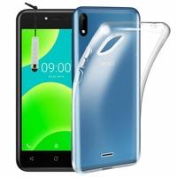 "Wiko Y50 5.0"" [Les Dimensions EXACTES du telephone: 146 x 73.5 x 8.7 mm]: Coque Silicone gel UltraSlim et Ajustement parfait + mini Stylet - TRANSPARENT"