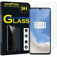 """OnePlus 7T 6.55"""" HD1901 HD1903 HD1900 HD1907 (non compatible OnePlus 7 6.41""""/ OnePlus 7T Pro 6.67""""): Lot / Pack de 2 Films de protection d'écran Verre Trempé"""