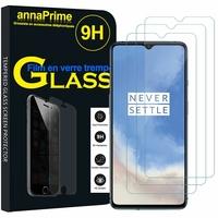 """OnePlus 7T 6.55"""" HD1901 HD1903 HD1900 HD1907 (non compatible OnePlus 7 6.41""""/ OnePlus 7T Pro 6.67""""): Lot / Pack de 3 Films de protection d'écran Verre Trempé"""