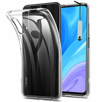 "Huawei Y9s (2019) 6.59"" STK-L21 STK-L22 STK-LX3 (non compatible Huawei Y9 (2019) 6.5""): Coque Silicone gel UltraSlim et Ajustement parfait + mini Stylet - TRANSPARENT"
