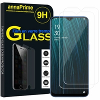 "Oppo A5s (AX5s) 6.2"" CPH1909 CPH1920 [Les Dimensions EXACTES du telephone: 155.9 x 75.4 x 8.2 mm]: Lot / Pack de 2 Films de protection d'écran Verre Trempé"