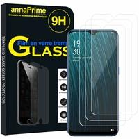 "Oppo A7/ AX7/ A7n 6.2"" CPH1901 CPH1903 CPH1905 [Les Dimensions EXACTES du telephone: 155.9 x 75.4 x 8.1 mm]: Lot / Pack de 3 Films de protection d'écran Verre Trempé"
