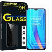 """Realme 3 Pro/ Realme X Lite 6.3"""" RMX1851 [Les Dimensions EXACTES du telephone: 156.8 x 74.2 x 8.3 mm]: Lot / Pack de 2 Films de protection d'écran Verre Trempé"""
