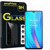 """Realme 3 Pro/ Realme X Lite 6.3"""" RMX1851 [Les Dimensions EXACTES du telephone: 156.8 x 74.2 x 8.3 mm]: Lot / Pack de 3 Films de protection d'écran Verre Trempé"""