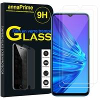 """Realme 5/ 5s 6.5"""" RMX1911 RMX1925 [Les Dimensions EXACTES du telephone: 164.4 x 75.6 x 9.3 mm]: Lot / Pack de 2 Films de protection d'écran Verre Trempé"""