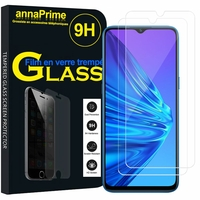 "Realme 5i 6.52"" RMX2030 [Les Dimensions EXACTES du telephone: 164.4 x 75 x 9.3 mm]: Lot / Pack de 2 Films de protection d'écran Verre Trempé"