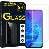 "Realme 5i 6.52"" RMX2030 [Les Dimensions EXACTES du telephone: 164.4 x 75 x 9.3 mm]: Lot / Pack de 3 Films de protection d'écran Verre Trempé"