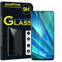 """Realme 5 Pro 6.3"""" RMX1971 [Les Dimensions EXACTES du telephone: 157 x 74.2 x 8.9 mm]: Lot / Pack de 2 Films de protection d'écran Verre Trempé"""