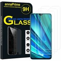 """Realme 5 Pro 6.3"""" RMX1971 [Les Dimensions EXACTES du telephone: 157 x 74.2 x 8.9 mm]: Lot / Pack de 3 Films de protection d'écran Verre Trempé"""