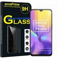 "Realme U1 6.3"" RMX1831 RMX1833 [Les Dimensions EXACTES du telephone: 157 x 74 x 8 mm]: Lot / Pack de 2 Films de protection d'écran Verre Trempé"