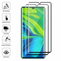 """Xiaomi Mi Note 10/ Note 10 Pro 6.47"""" M1910F4G [Les Dimensions EXACTES du telephone: 157.8 x 74.2 x 9.7 mm]: Lot/ Pack de 2 Films en Verre Trempé Bord Incurvé Resistant"""